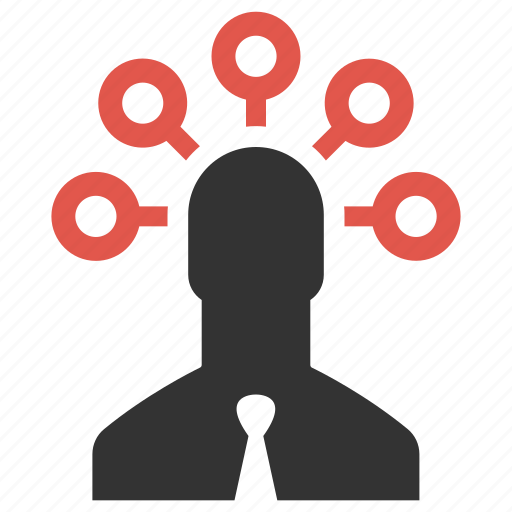 brainstorming, businessman, links, marketing, nodes, planning, strategy icon