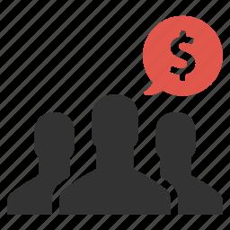 dollar, finance, group, income, money, salary, salesmen icon