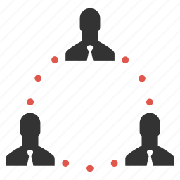 businessmen, community, connection, group, links, management, people icon