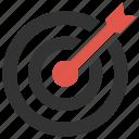 aim, archery, arrow, center, goal, success, target icon
