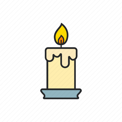 burn, candle, fire, light icon