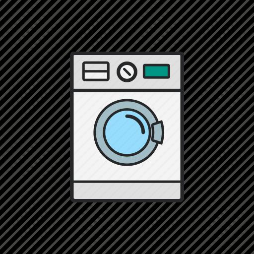 cloths, technology, wash machine, washing icon
