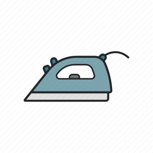 iron, ironing the t shirt, metal, technology icon