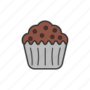 cake, chocolate, muffin, sweet icon
