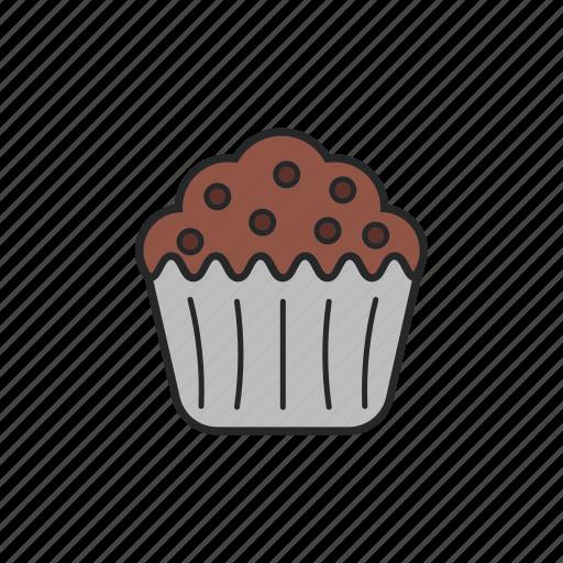 cake, chocolate, muffin, sweet icon