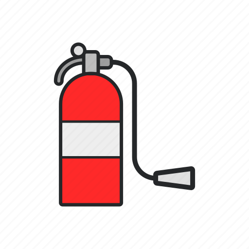 burn, fire, fire extinguisher, firefighter icon