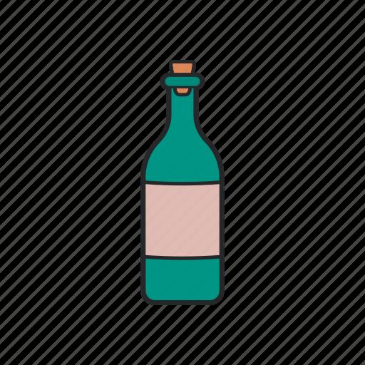 alchol, bottle, drink, wine icon
