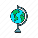 countries, geography, globe, maps icon