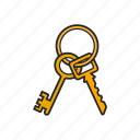 golden key, key, keys, lock icon