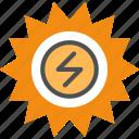 ecology, electricity, energy, solar, solar energy, sun icon