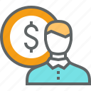 business, cash, finance, money, office, value icon