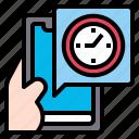 clock, app, smartphone, mobile, technology