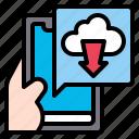 download, app, smartphone, mobile, technology