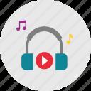 audio, headphone, headphone icon, music, play, sond icon