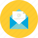 document, mail, mail icon, receved mail icon