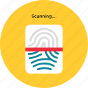 fingerprint, id, identification, print, scan, thumb icon, • finger icon