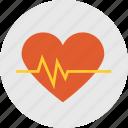 heart, heart beat, heart icon icon