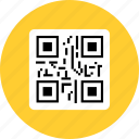 qr, qr code, scan, scanner icon, • code icon