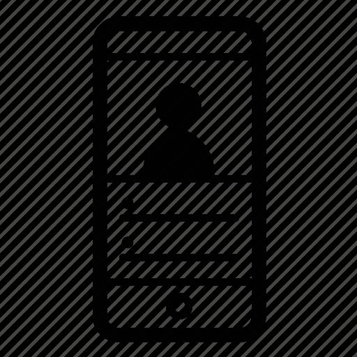 info, ios, mobile, profile, user icon