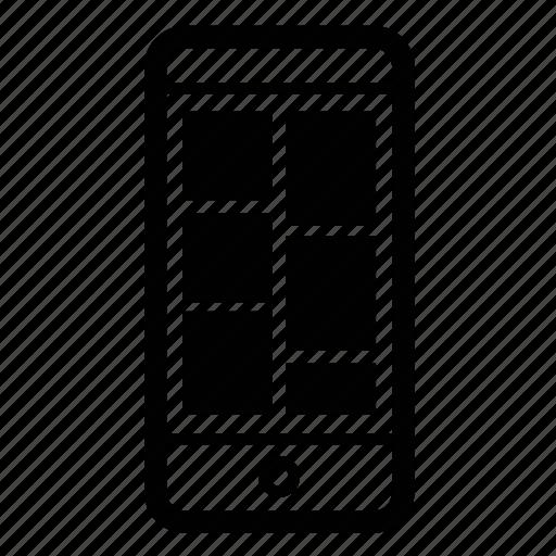 feed, ios, mobile, tiles icon