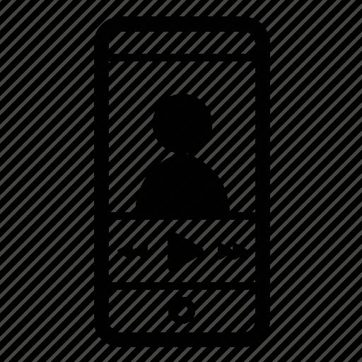ios, mobile, video icon