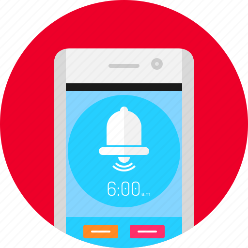 alarm, app, clock, mobile, phone, schedule, time icon