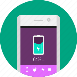 app, application, battery, energy, mobile, phone, power icon