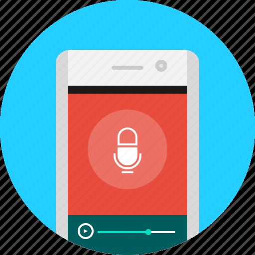 app, audio, mobile, record, recording, voice icon