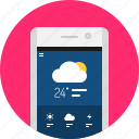 app, cloud, mobile, rain, weather icon