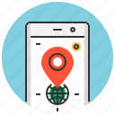 address, app, location, map, mobile, phone, smart icon