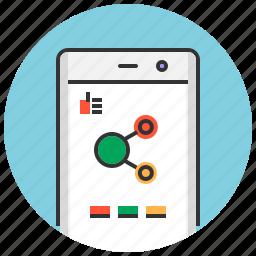 app, media, mobile, phone, share, sharing, social icon