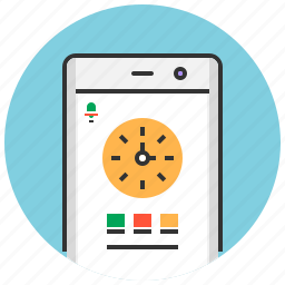 alarm, app, clock, mobile, time, timer, watch icon