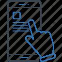 click, command, tap icon