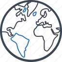 earth, globe, world