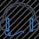 app, headphone, headset, listen icon