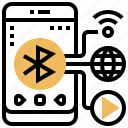 bluetooth, share, connect, signal, transfer icon
