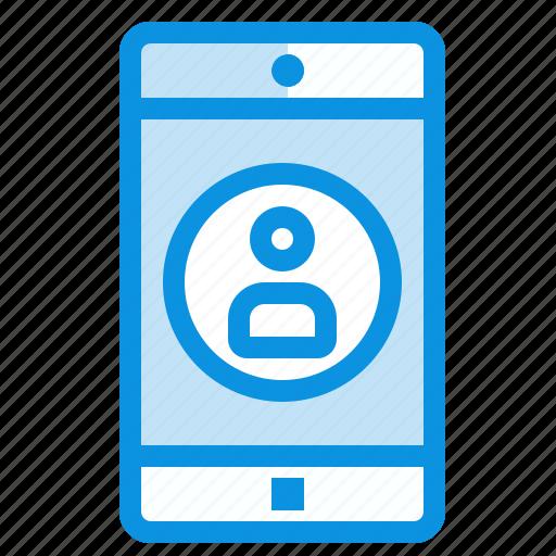 application, mobile, profile icon