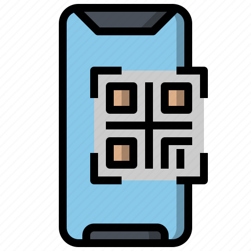 code, electronics, mobile, qr, screen, touch, ui icon