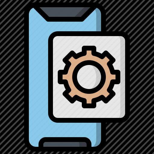 configuration, edit, gear, settings, smartphone, tools, ui icon