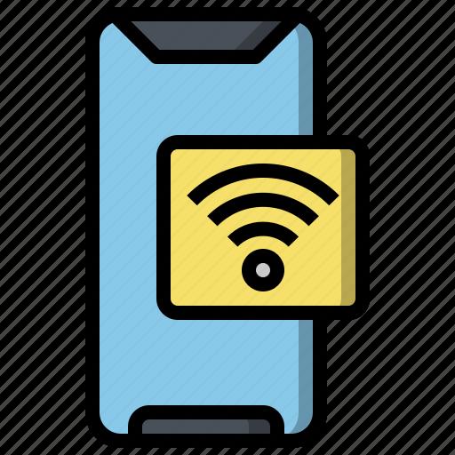 connectivity, internet, mobile, signal, ui, wifi, wireless icon