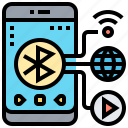 bluetooth, connect, share, signal, transfer