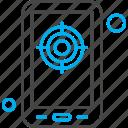 aim, application, goal, mobile, target