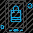 application, bag, ecommerce, mobile, shopping