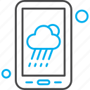 application, cloud, cloudy, mobile, weather