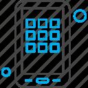 application, grid, menu, mobile