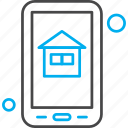 application, home, house, mobile, property