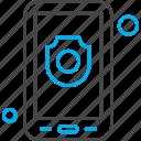 application, mobile, security, shape, shield