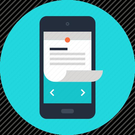 mobile, note, organizer, phone, plan, reminder, schedule icon