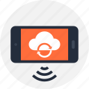 cloud, communication, mobile, phone, sync, synchronization, update icon