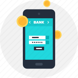 account, banking, mobile, money, payment, phone, transaction icon